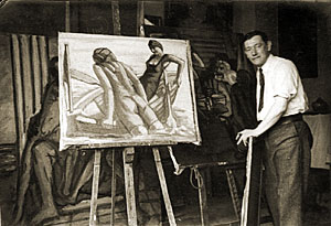 Herbert Fiedler: Fiedler in his Studio,  Berlin c. 1930
